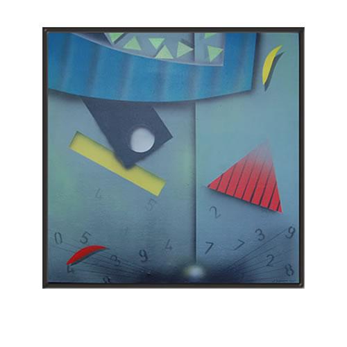 Airbrush. Z.t. 27 x 27 cm. Acryl op linnen