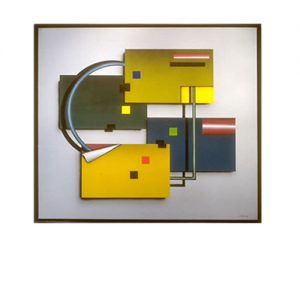 Airbrush. Z.t. Acryl op linnen. 100 x 90 cm